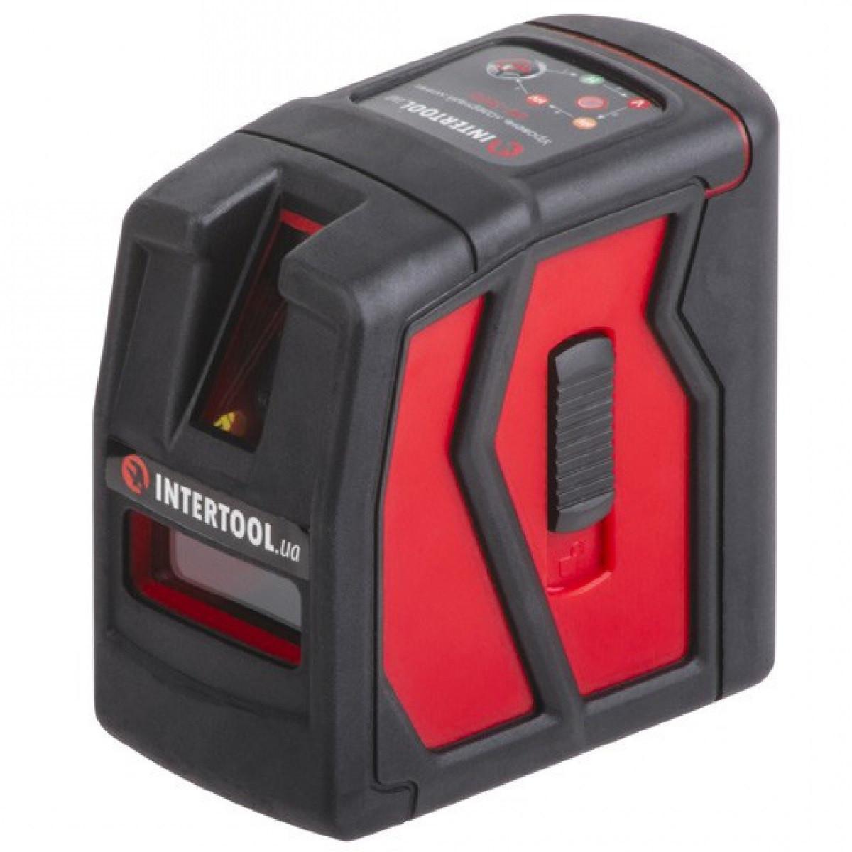 Уровень лазерный INTERTOOL MT-3050 (1V+1H) + КРОНШТЕЙН в подарок