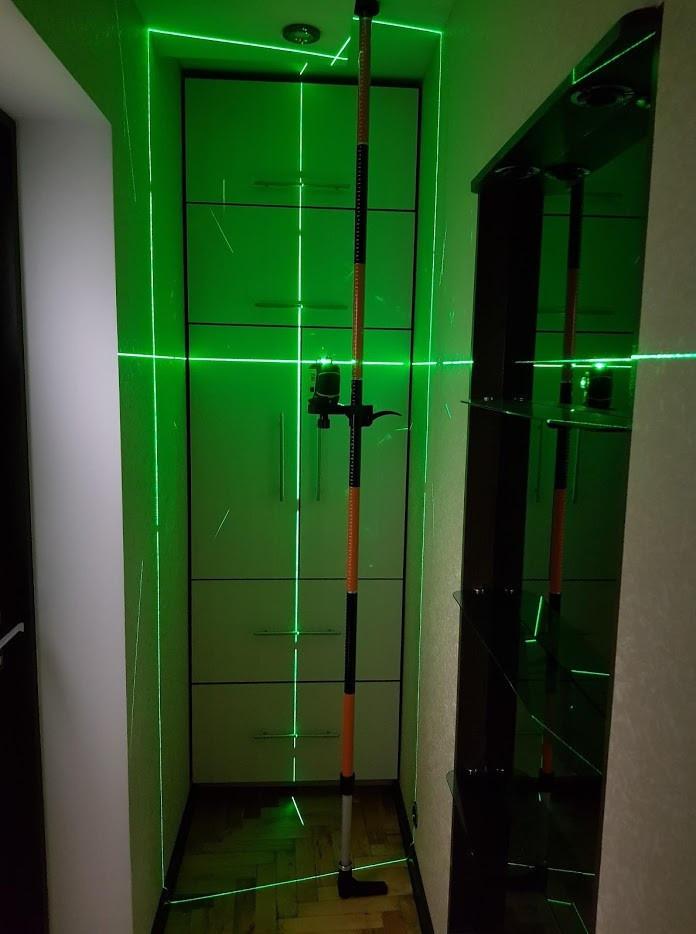 УСИЛЕННАЯ Распорная штанга стойка для лазерного уровня 3.36 м, РЕЗЬБА 1/4 И 5/8
