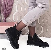 Ботинки женские черные Зима  3240