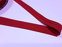 Бейка лямівка бавовняна 2 см.. Косая бейка хлопок, Червона з малиновим відтінком. Ціна за 1 метр, фото 1