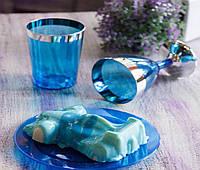 Пластиковая посуда тарелки десертные 6 шт 155 мм для фуршета и кейтеринга Capital For People синяя.