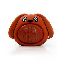 Детская Bluetooth колонка Щенок Коричневый (MB-M818)