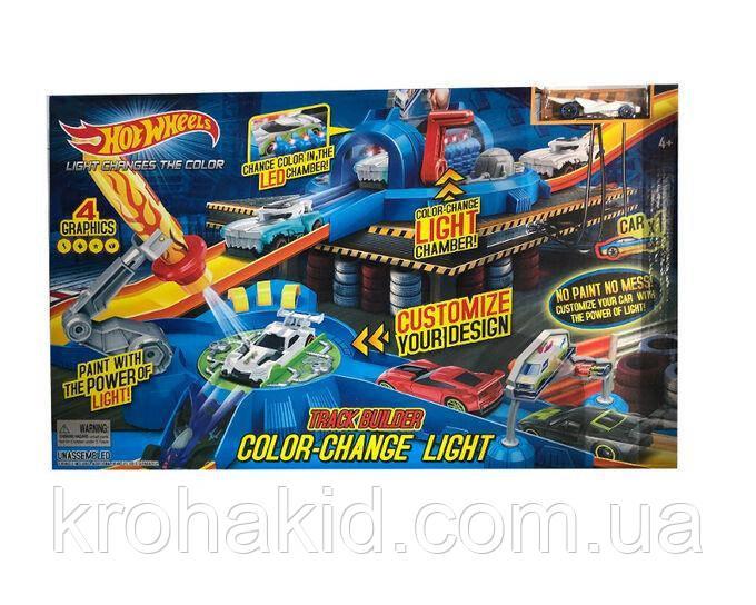"""Игровой набор Hot Wheels """"Световой удар"""" 7903 / Трек-запуск """"Hot Wheels"""" со светом / машинка меняет цвет"""