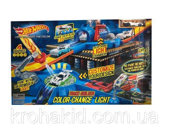 """Игровой набор Hot Wheels """"Световой удар"""" 7903 / Трек-запуск """"Hot Wheels"""" со светом / машинка меняет цвет, фото 2"""