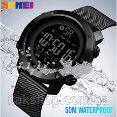 Мужские наручные часы Skmei Revolution Black, фото 3