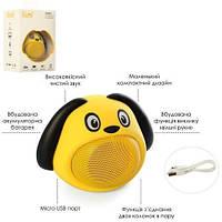 Детская Bluetooth колонка Щенок Желтый (MB-M818)
