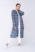 SEWEL Кардиган XW510 (46-48, голубой, бежевый, черный, 50% хлопок/ 50% акрил)