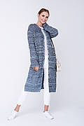 SEWEL Кардиган XW510 (42-44, голубой, бежевый, черный, 50% хлопок/ 50% акрил)