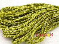 Нитки мулине Гамма (Gamma) для вышивания №0008 Оливковый