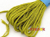 Нитки мулине Гамма (Gamma) для вышивания №0010 Оливковый