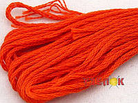 Нитки мулине Гамма (Gamma) для вышивания №0011 Оранжево-красный