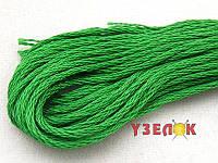 Нитки мулине Гамма (Gamma) для вышивания №0014 Ярко-зеленый