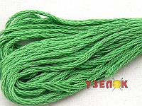 Нитки мулине Гамма (Gamma) для вышивания №0015 Светло-зеленый