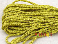 Нитки мулине Гамма (Gamma) для вышивания №0017 Светло-оливковый