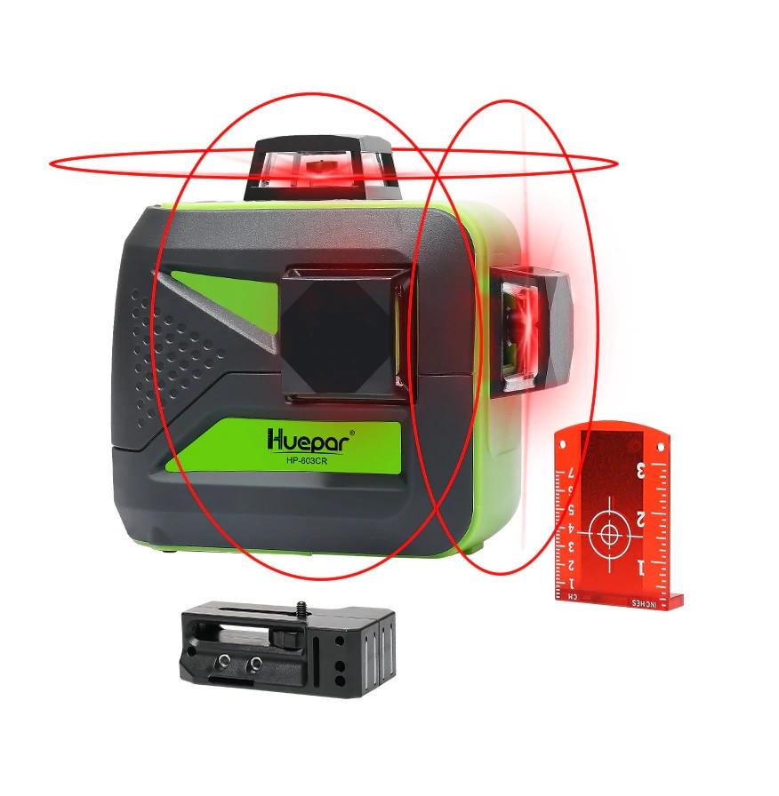 ☀Красный ЛУЧ⇒30м☀Лазерный уровень Huepar 3D HP-603CR ➤КРОНШТЕЙН В ПОДАРОК➤