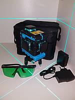 ☀ N E W ☀OSRAM diod⇒50м☀Профессиональный лазерный уровень XEAST 3D ➤очень яркие БИРЮЗОВЫЕ диоды➤