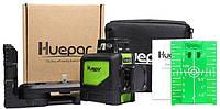 GREEN ⇒ Лазерный уровень Huepar 2D green HP-902CG ⇒ ОТКАЛИБРОВАН+КРОНШТЕЙН