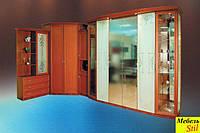 Шкаф-кровать трансформер, фасад с матовыми зеркалами, фото 1