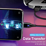 GETIHU Магнитный кабель USB Lightning быстрая зарядка 3А для Android Samsung Xiaomi для зарядки Цвет синий, фото 6