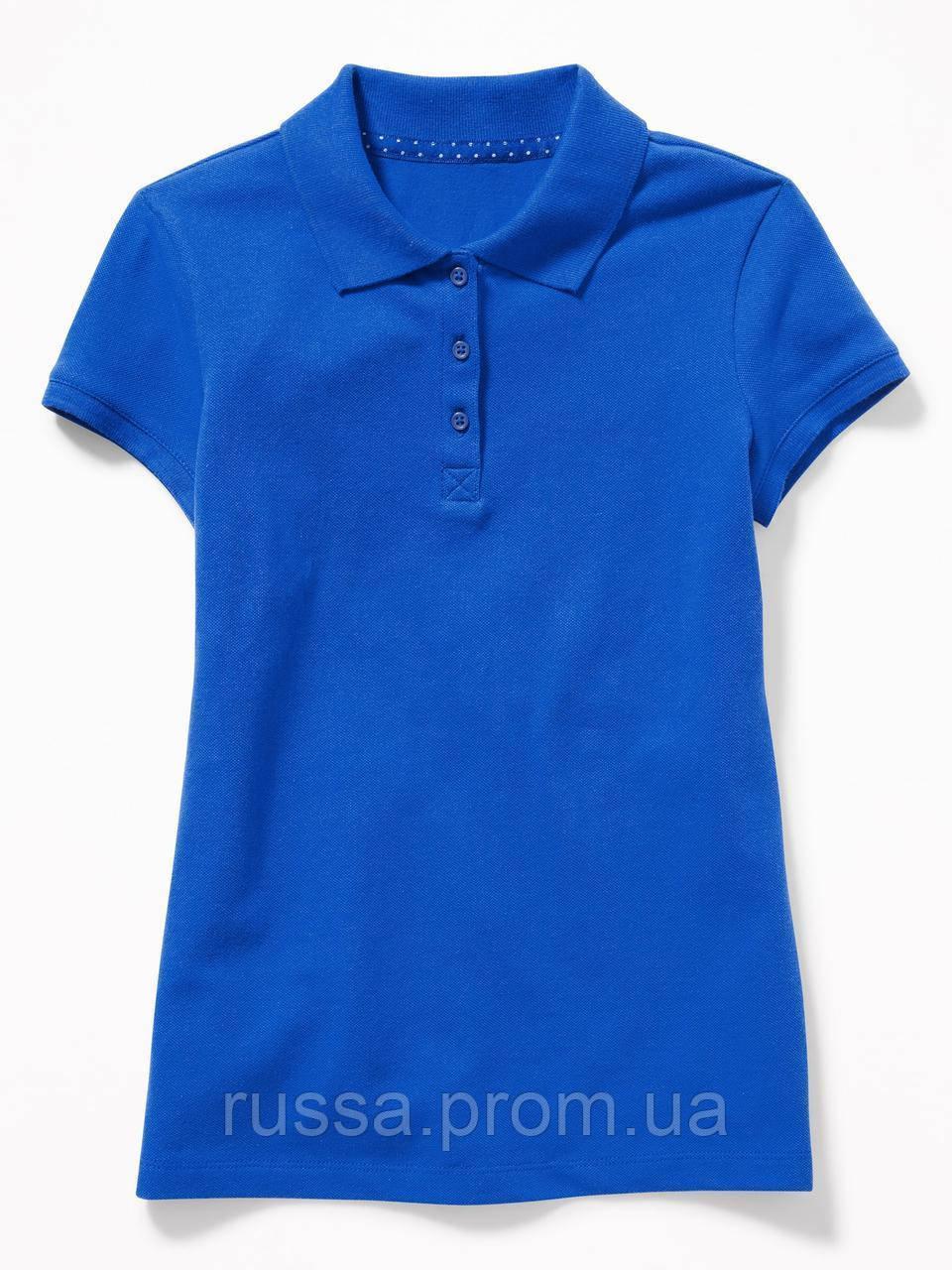 Детская синяя футболка поло для девочки Old Navy Олд Неви