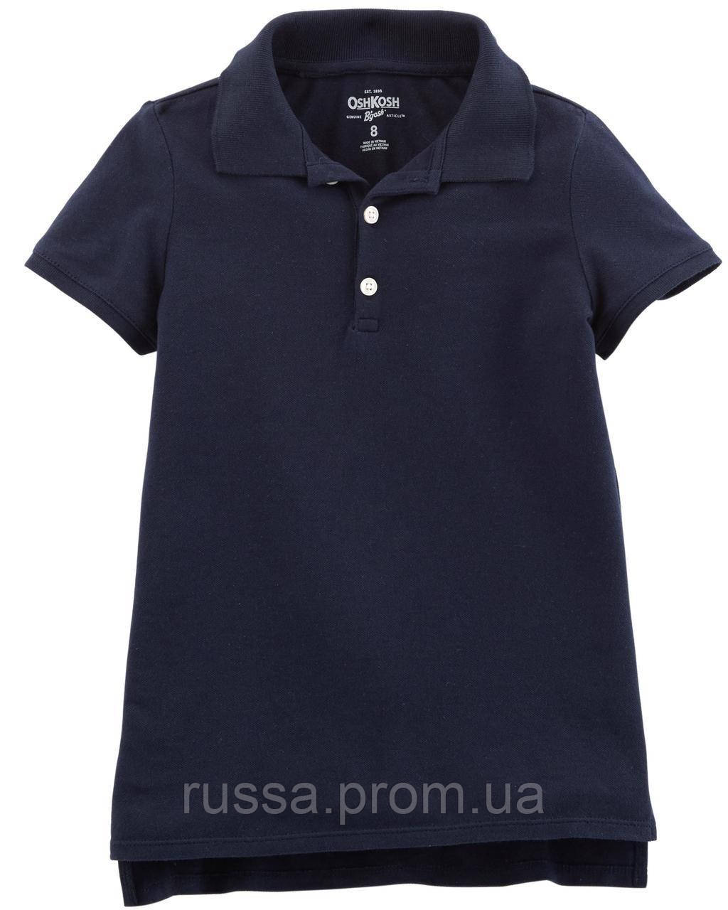 Синяя футболка поло OшКош для девочки