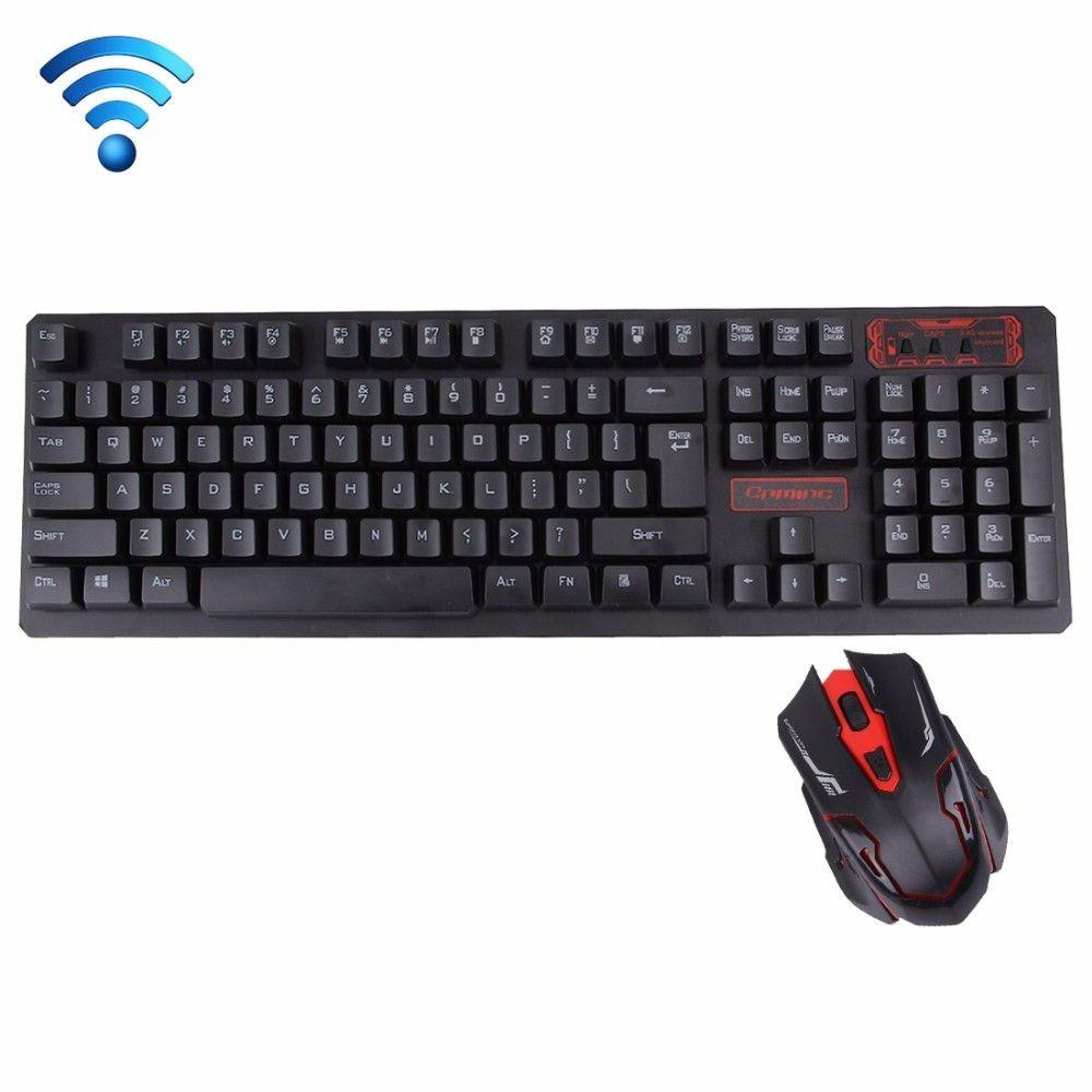 Беспроводная игровая клавиатура и мышка HK6500 в комплекте блютуз