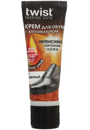 """Крем для обуви с аппликатором """"Twist fashion care"""" бесцветный (75мл.)"""
