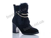 """Ботинки зимние женские """"Gallop Lin"""" #WL127. р-р 36-41. Цвет черный. Оптом"""