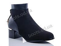 """Ботинки демисезонные женские """"Gallop Lin"""" #GL219. р-р 36-41. Цвет черный. Оптом"""