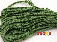 Нитки мулине Гамма (Gamma) для вышивания №3156 Зеленый-хаки