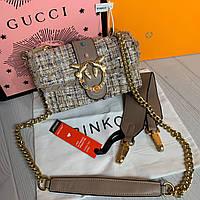 Женская сумка Pinko Пинко твид, фото 1