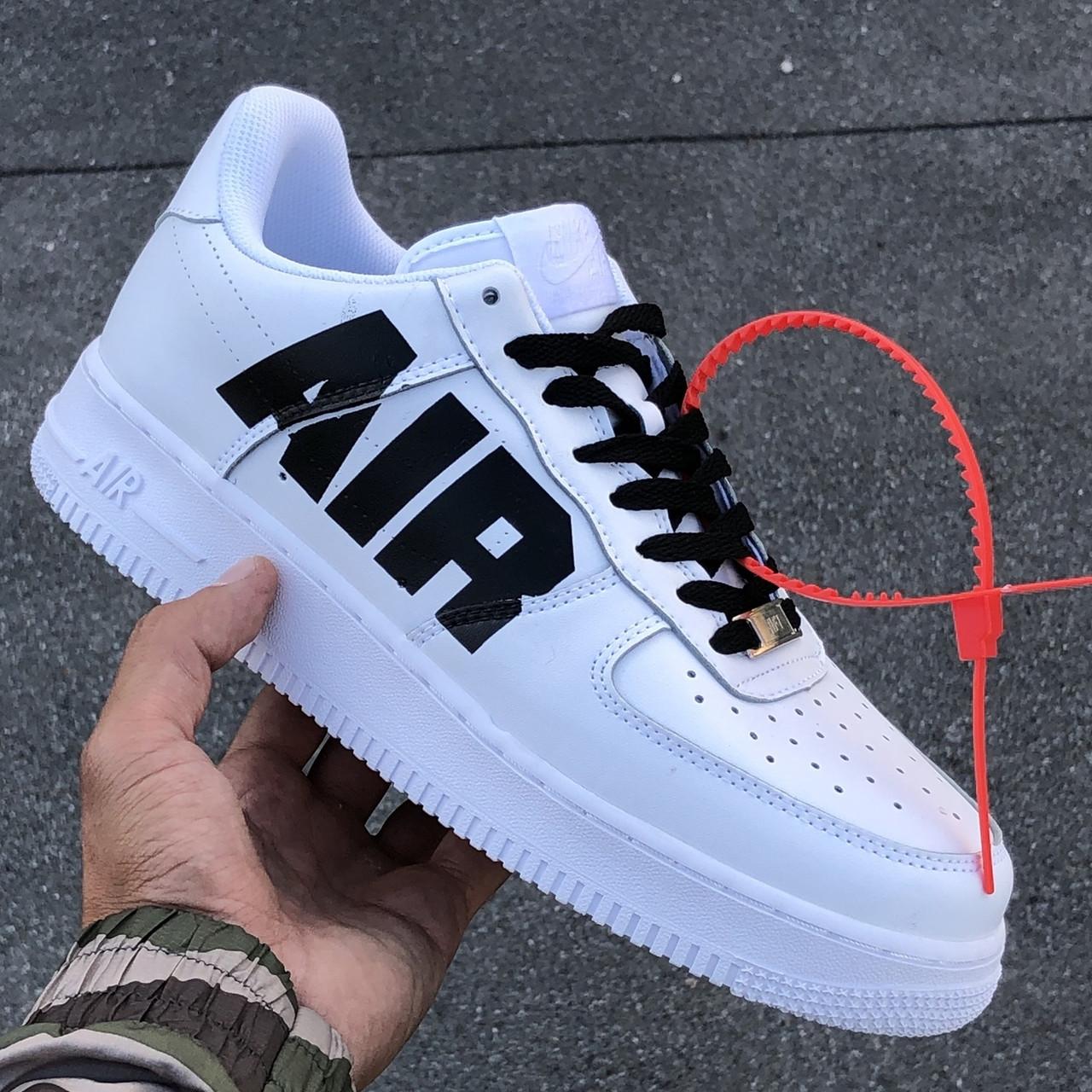 Кроссовки мужские Nike Air Force 1 белые (Top replic)
