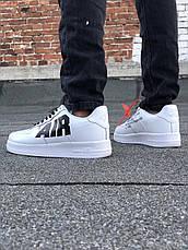 Кроссовки мужские Nike Air Force 1 белые (Top replic), фото 3