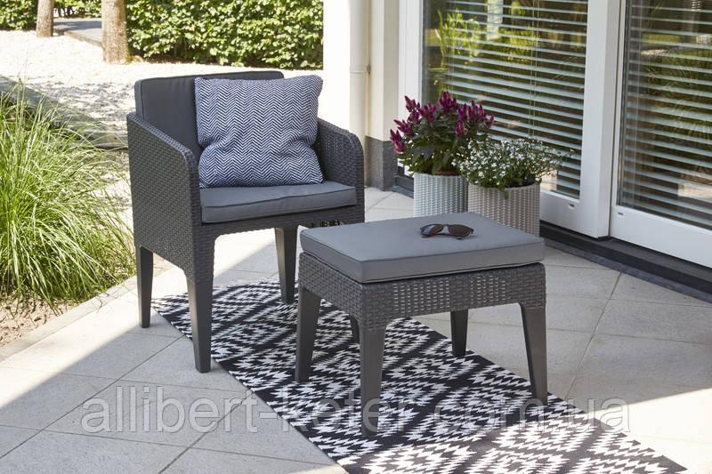 Набір садових меблів Columbia Mini Balcony Set зі штучного ротанга ( Allibert by Keter )
