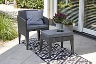 Набор садовой мебели Columbia Mini Balcony Set из искусственного ротанга, фото 1