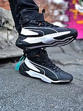 Кросівки чоловічі Puma LQDCELL Optic Sheer чорні-білі (Top replic), фото 2