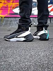 Кросівки чоловічі Puma LQDCELL Optic Sheer чорні-білі (Top replic), фото 3