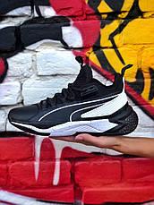 Кроссовки мужские Puma LQDCELL Optic Sheer черные-белые (Top replic), фото 2