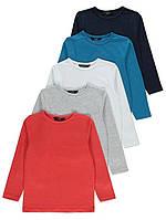 Набор футболок с длинным рукавом 5 шт Джордж для мальчика