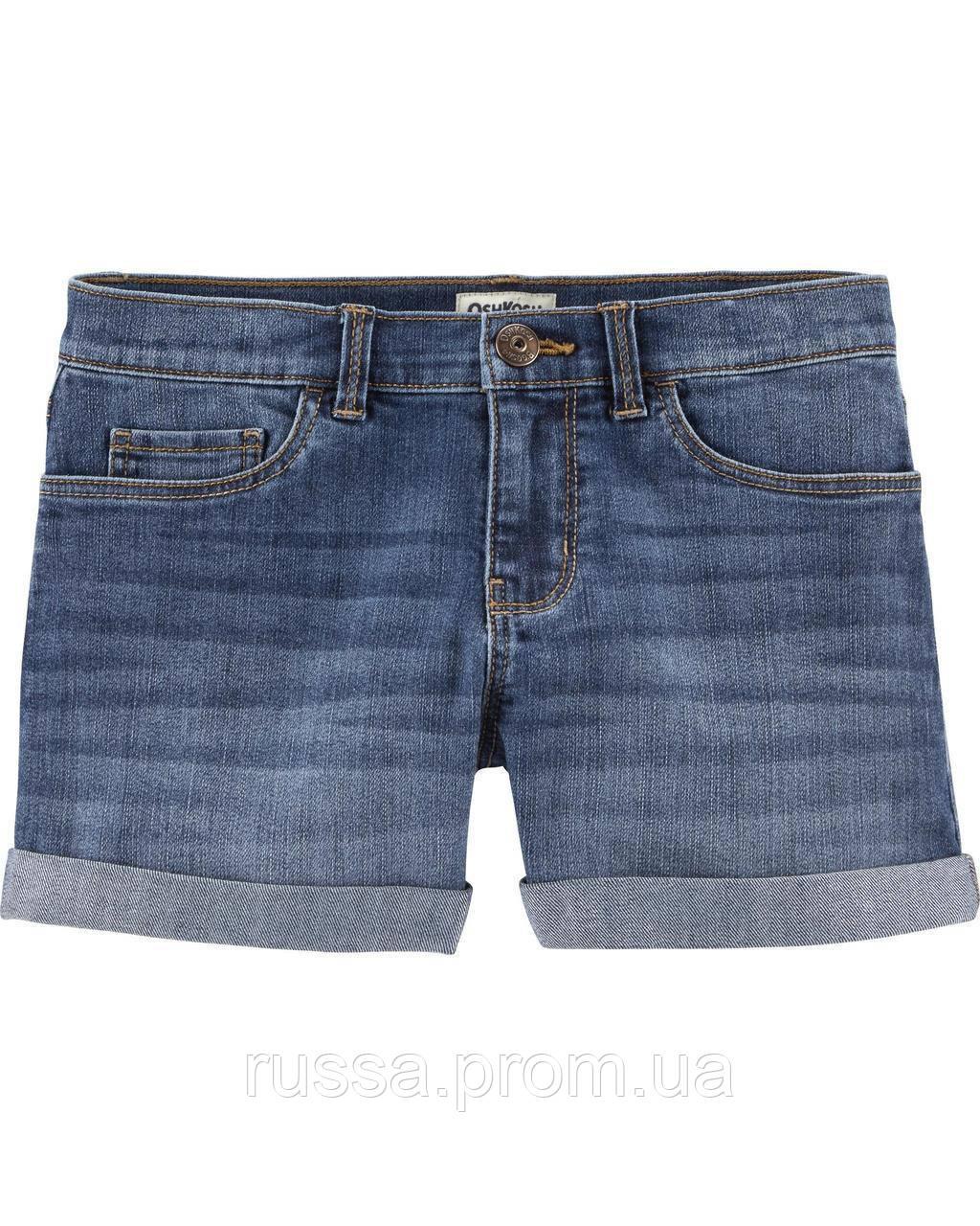 Детские джинсовые шорты с отворотами ОшКош для девочки