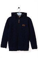 Кофта для ребёнка/мальчик 85% хлопок, 15% полиэстер тёмно-синий Simarik все размеры  10 лет (140 см)