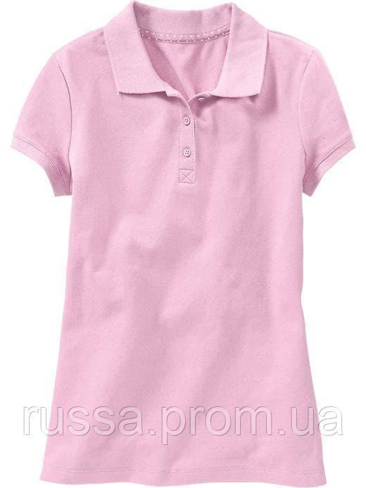 Детская розовая футболка поло для девочки Old Navy Олд Неви