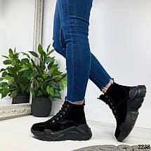 Ботинки зимние черные, фото 3