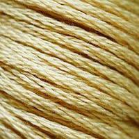 Мулине DMC (ДМС) для вышивания, №738, Tan - vy lt  (Желто-коричневый, оч.св. )