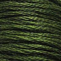 Мулине DMC (ДМС) для вышивания, №936, Avocado Green - vy dk  (Авокадо, оч.т. )
