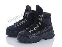 """Ботинки демисезонные женские """"Gedanni"""" #A16 black. р-р 36-41. Цвет черный. Оптом"""