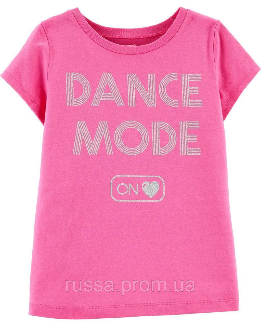 Качественная летняя футболочка Картерс для девочки