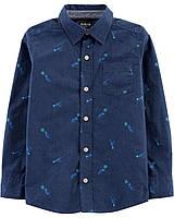 Детская рубашка с динозаврами ОшКош для мальчика