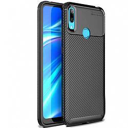 Чехол Huawei Y7 (2019) / Huawei Y7 Prime (2019) TPU, Epik Kaisy Series, матовый с карбоновым эффектом