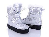 """Дутики зимние женские """"Gedanni"""" #A3 silver. р-р 36-41. Цвет серебряный. Оптом"""